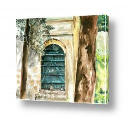 ציורים ציור | דלת בגן