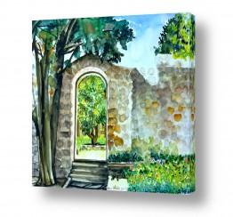 טבע דומם דלתות | כניסה לגן