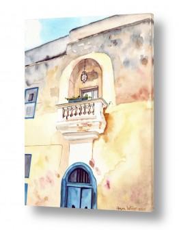 ציורים ציור | חזית בית מסורתית