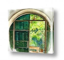 ציורים ציור | חלון עגול