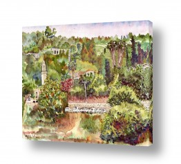 ציורים עירוני וכפרי | מעיין מרים