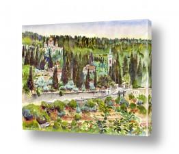 ציורים עירוני וכפרי | כנסיית הביקור