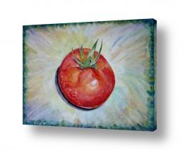 אוכל סלט | עגבניה בשלה