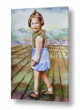 תמונות לחדרי המתנה | ילדה מהעמק
