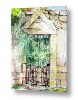 טבע דומם דלתות | שער אבן חסום