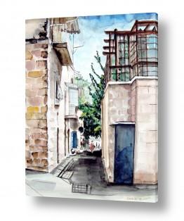 ציורים עירוני וכפרי | מבוא החומה