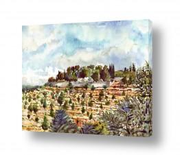ציורים עירוני וכפרי | מינזר האחיות ציון