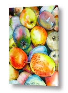 ציורים עירוני וכפרי | תפוחים