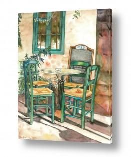 תמונות לחדרי כניסה | כסאות ליד חלון ירוק