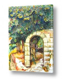 ציורים ציור בצבעי מים | עץ תאנה עתיק