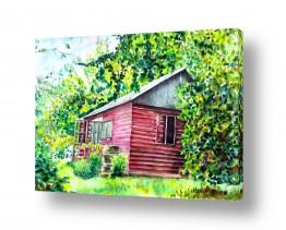 ציורים ציור בצבעי מים | בית בטבע