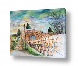 ציורים ציור | מדרגות עין כרם