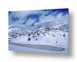 צילומים מזג-אוויר | האגם הקפוא