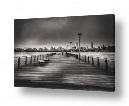 צילומים תמונות שחור לבן | רציף בברוקלין