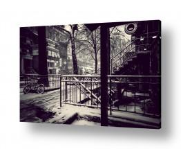 צילומים עידן גיל | סופת שלגים בעיר