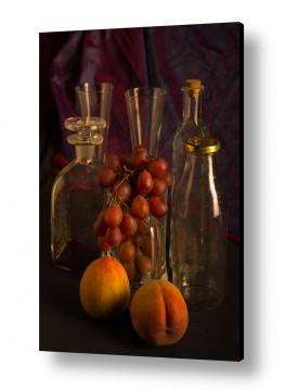 טבע דומם קנקן ובקבוקים | still life
