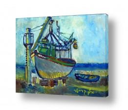 כלי שייט אוניה | ספינת דייג בתיקון