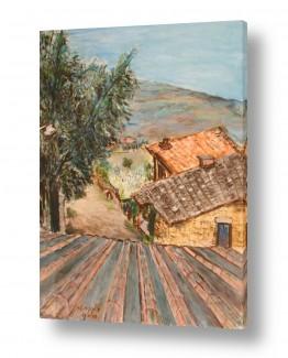 בתים גגות | נוף בטוסקנה