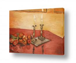 ציורים עוד קרייטר | נרות שבת