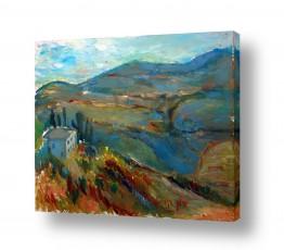ציורים עוד קרייטר | נוף הרים בצפת