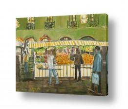 ציורים עוד קרייטר | דוכן פירות במינכן