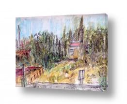 כפרי קיבוץ וכפר | חצר במושב באזור ירושלים