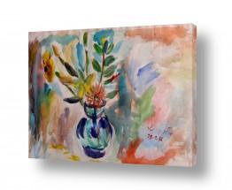 ציורים עוד קרייטר | אגרטל פרחים 1986