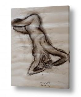 ציורים עוד קרייטר | אישה בעירום- רישום 1996