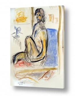ציורים רישום | גבר בעירום