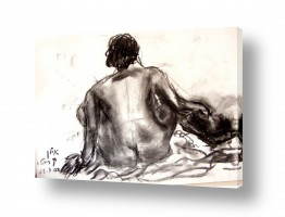 ציורים עוד קרייטר | אישה בעירום- רישום פחם