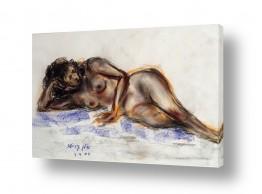 ציורים עוד קרייטר | אישה בעירום בצבעים חומים