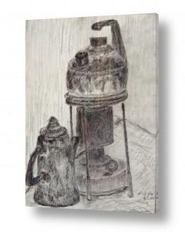 ציורים רישום | קומקומים ופתיליה-רישום