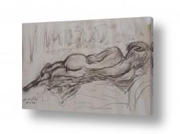 ציורים רישום | אישה בעירום- רישום 1997