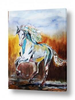 ציורים ציור בצבעי מים | סוס 5