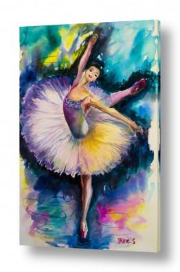 ציורים ציור | בלרינה על הבמה