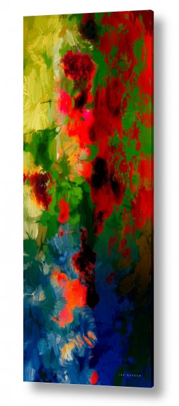 ציורים אבסטרקט | פרחים של קיץ