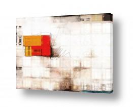 אבסטרקט מופשט מופשט גיאומטרי | חלון אדום