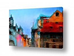 ציורים עירוני וכפרי | ראיתי עיר