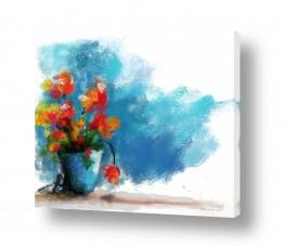 ציורים טבע דומם | עציץ שקנית לי ליום ההולדת