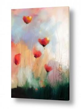 ציורים אבסטרקט | נגיעות של אהבה