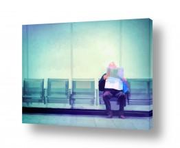 אנשים גברים | מחכים לרכבת