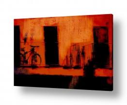 ציורים עירוני וכפרי | מרפסת אדומה