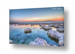 תמונות נופים נוף שמים | זריחה בים המלח
