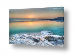 צילומים חופים וים | זריחה בים המלח