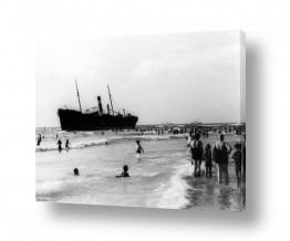 צילומים ארץ ישראל הישנה | תל אביב 48 אוניה על שרטון