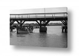 צילומים ארץ ישראל הישנה | תל אביב 1939 סירות וגשר