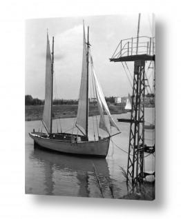 צילומים ארץ ישראל הישנה | תל אביב 1939 סירת מפרש