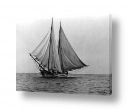 צילומים ארץ ישראל הישנה | תל אביב 1939 סירת דו-מפרש