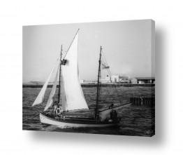 צילומים דוד לסלו סקלי | תל אביב 1939 סירת מפרש