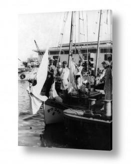 צילומים ארץ ישראל הישנה | תל אביב 1939 קצין וחניכים